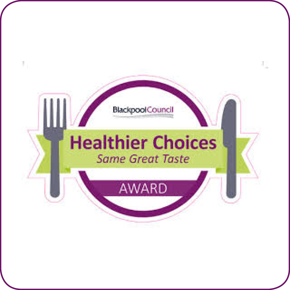 Blackpool's Healthier Choices Award logo
