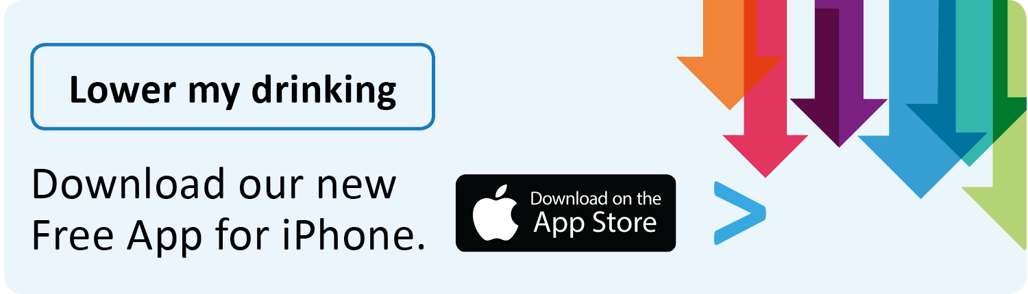 Link to the App Store to download Lower My Drinking App
